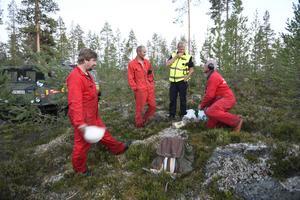 Arne Näsvall tillsammans med Ronny Enarsson, Peter Ryvang och Per-Erik Jonsson