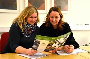 Planarkitekt Ann-Mari Lopez och projektledaren Malin Holmkvist jobbar med frågorna kring Katrinehill.
