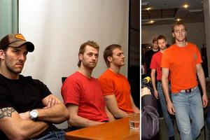 Kristian Huselius, Henrik Tallinder och Andreas Lilja.Bild: Maja Suslin/TT