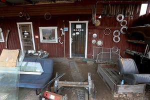 Kontoret där man gick in med sina fynd och köpslog med Kjell Eriksson.