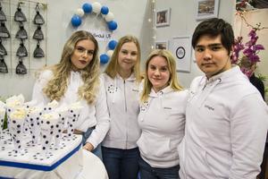 Eveline Nilssen, Mathilda Jonsson, Vilma Ydén och Zolfaghar Rezaei från Bromangymnasiet.