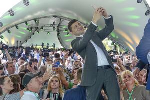 Ukrainas nyvalde president Volodymyr Zelenskij. AP Photo/Zoya Shu