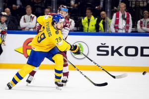 Filip Forsberg i matchen  mot Lettland. Foto: Petter Arvidson / Bildbyrån