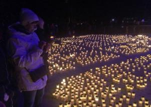 Så här såg det ut på ljusmanifestationen för två år sedan.