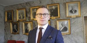 Sverigedemokraternas oppositionsråd Emil Thessén.