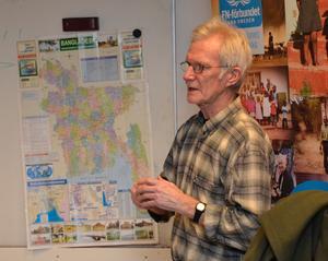 Bo Kramsjö, Stöndar, Undrom, är en av få svenskar som lärt sig språket bangla som talas i Bangladesh. Han har en enorm kunskap om landet som han skrivit två böcker om. Foto: Sven Lindblom