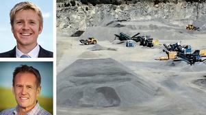 Mårten Sohlmanvd, Sveriges Bergmaterialindustri och Svante Axelssonnationell samordnare för Fossilfritt Sverige, skriver om hur bergmaterialindustrin ska bli fossilfri. Bilden är ett montage.