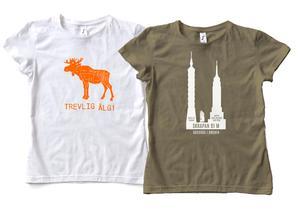 T-shirtar designade av Frédéric och Bernard. Foto: Adopt A Fly