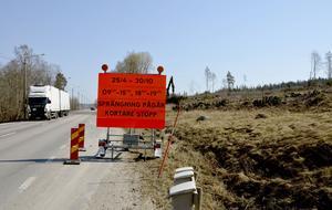 Fram till i slutet av oktober kommer sprängningarna att pågå i området på totalt 1,6 kilometer.