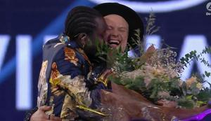 Glad segare, och glad tvåa. Skärmklipp: TV4