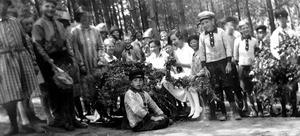 Barnen på Bodaborg. Bild: Ur ett album som förvaras på regionarkivet.