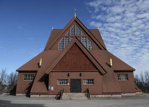 Kiruna kyrka är en av de byggnader som ska flyttas på grund av gruvbrytningen Foto: Noella Johansson / TT