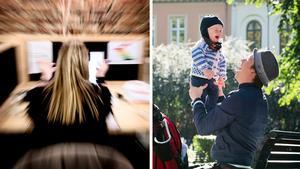 Genom att dra ner på antalet arbetstimmar skulle också stressen och den psykiska ohälsan minska, och vi skulle få en mer välmående befolkning, menar Kalle Wadin Wesslén. Bilder: Robert Henriksson/TT / Heiko Junge/TT