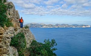 Eyal fångad på bild av Kerstin under en vandring efter kusten i Alcudia. Bild: Kerstin Krafft