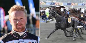 Det blir ingen Oskar Kylin-Blom och  Antonio Tabac i Sundsvall Open Trot. Foto: Mats Persson, Christer Norin.