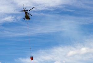 Helikopter över Lassekrog.