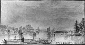 Teckning från Stugsundet, daterad 1862. Ägare: Lars Brolin.