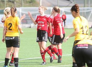 Litéa Karlsson, målskytt för Team Hudik.