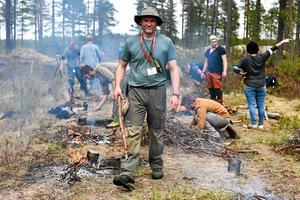 Deltagaren Adrian Boots på förra sommarens upplaga av Morakniv Adventura i Säs utanför Mora.