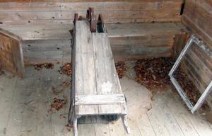 Linjeringsmaskin för sågspån i Nederhögen.