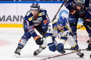 Växjös Marcus Davidsson lyckades besegra Leksand, utan större problem, i Tegera Arena. Foto: Daniel Eriksson/Bildbyrån.
