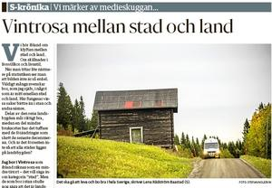 NA den 26 april. Lena Baastad skrev en krönika på NA:s ledarsida.