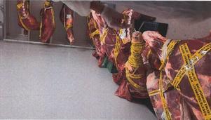 Köttet, som kommer från Lettland, slaktades i slutet av juni. Foto: Borlänge kommun/miljökontoret