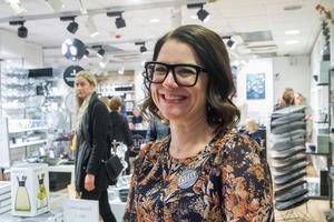 Sofie Wik är glad över att få öppna sin butik Fasett i Hudiksvall.
