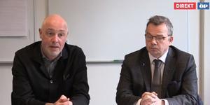 Mikael Cederberg, förbundsdirektör för JGY, och Pär Löfstrand (L) som är högst ansvarige politiker för  JGY.