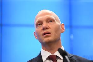 Niklas Wykman (M), skattepolitisk talesperson och riksdagsledamot. Foto: Fredrik Sandberg/TT