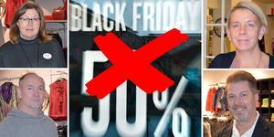 Flertalet handlare i Borlänge centrum dömer ut Black Friday.