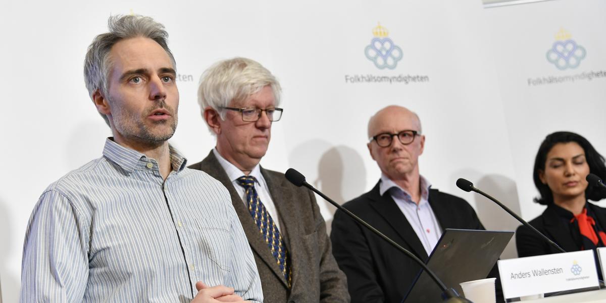 Tv Risken For Spridning Av Coronaviruset I Sverige Hojs Till Hogsta Nivan Se Presskonferensen