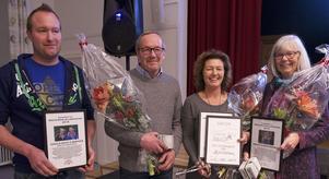 De nominerade till Årets Sonfjällsbygdare 2016 Stefan Dahl, Kurt Dahl, Stina Hedengran och Birgitta Westergren.