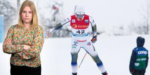 Calle Halfvarsson hade ingen rolig dag. Sportens Camilla Westin listar fem heta punkter från herrarnas 30 km fritt i Beitostölen. Bilden är ett montage.