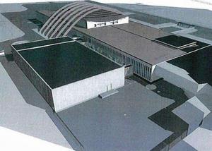 Om ungefär ett år väntas den nya byggnaden stå på plats. Illustration: agnasARK