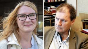 Sara Sjödal (C), oppositionsråd i Tierp. Bengt-Olov Eriksson (S), kommunalråd i Tierp.
