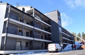 Det första av de fyra hus som byggs i kvarteret.