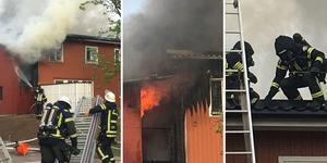 Brand i ett flerfamiljshus i Jakobsgårdarna, Borlänge.