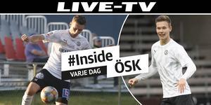 Jake Larsson och Arvid Brorsson kan göra sina första minuter i ÖSK i träningsmatchen mot Jönköpings Södra.