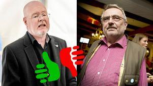 Bob Wållberg (NP) och Göran Nygren (M) har gemensamt lett Nykvarn den senaste mandatperioden. LT har granskat partiernas vallöften. Foto: Linus Chen Magnusson och Janne Näss