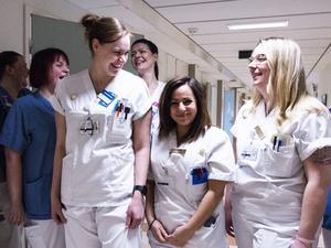 Sjuksköterskorna Malin Lindgren, Matilda Svedberg samt Aleksandra Waclawek.