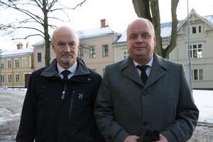 Tore Lennartsson och Bjarne Holmgren från Gefle IF:s klassiska allsvenska lag 1983.