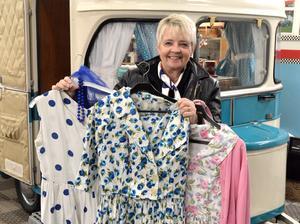 Märtha Stornils vill gärna klä sig i tidsenliga kläder, något hon har gott om.