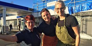 Kristina, Sophie och Angelica Engström från Gulf i Härnösand.