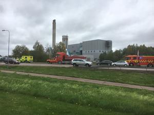 Trafikolycka på riksväg 50 i Borlänge, i höjd med värmeverket.