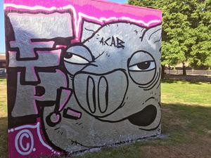 Länsmuseets Graffitivägg, torsdag klockan 08.15.