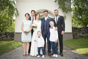 Henrik Zetterberg och Per Hallin tillsammans på Per Hallins bröllop.