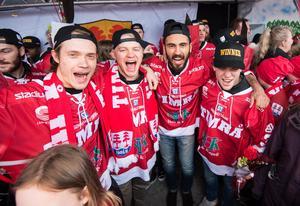 Didrik Strömberg, Johan Johnsson, Jeremy Boyce och Emil Berglund. Bild: Pär Olert/Bildbyrån
