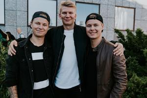 Charlie, Lucas och Philip.