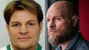 Vänster: 1995. Västeråsaren Per Fosshaug, legendar i VSK Bandy.Höger: Fosshaug år 2015, 20 år senare.
